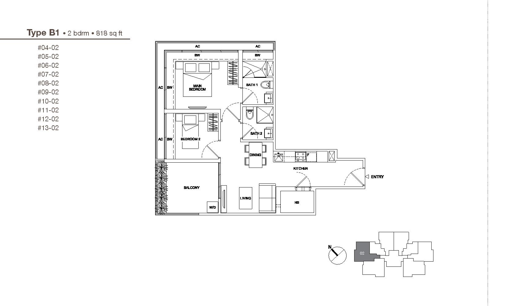 2 bedroom regent residences Regent heights floor plan